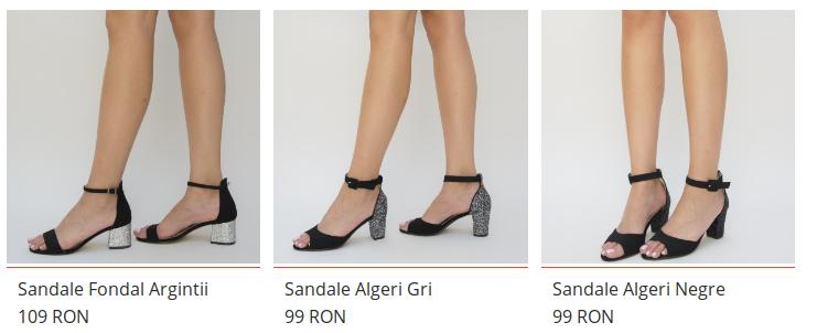 Sandale cu toc gros ieftine vara 2018