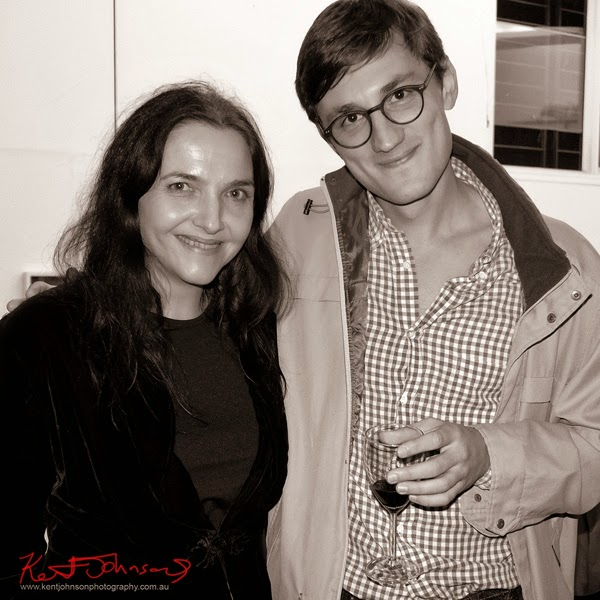 Artist's Nicole Toms and Vladimir Kravchenko at Mils Gallery. Street Fashion Sydney by Kent Johnson.