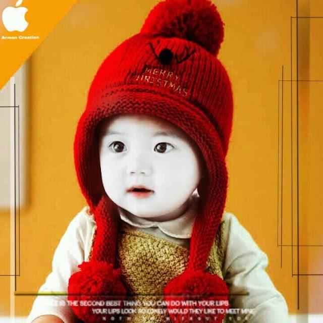 image of baby boy crochet beanie hat
