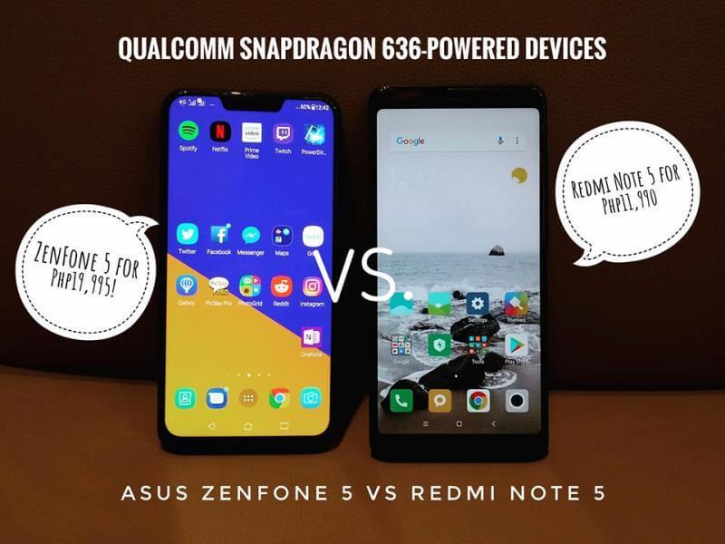Xiaomi Redmi Note 5 versus ASUS ZenFone 5