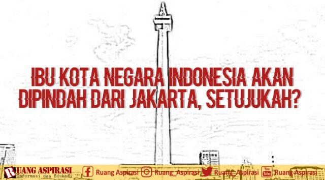 Ibu Kota Negara Indonesia Akan Dipindah Dari Jakarta, Setujukah?