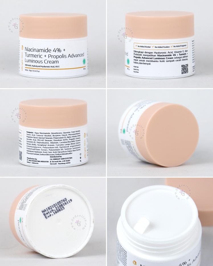 Ingredients eBright Skin Niacinamide Cream