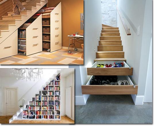 Móveis inteligentes casa-apto pequeno - Escadas inteligentes