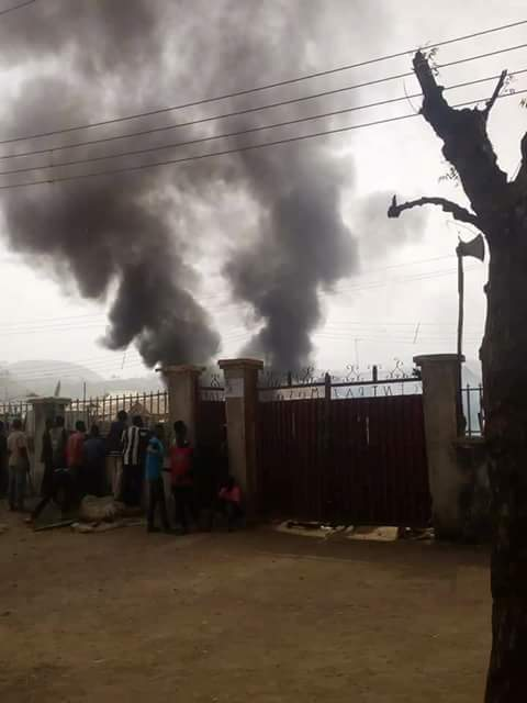 Black Christmas: Bwari Area Council FCT Abuja on fire