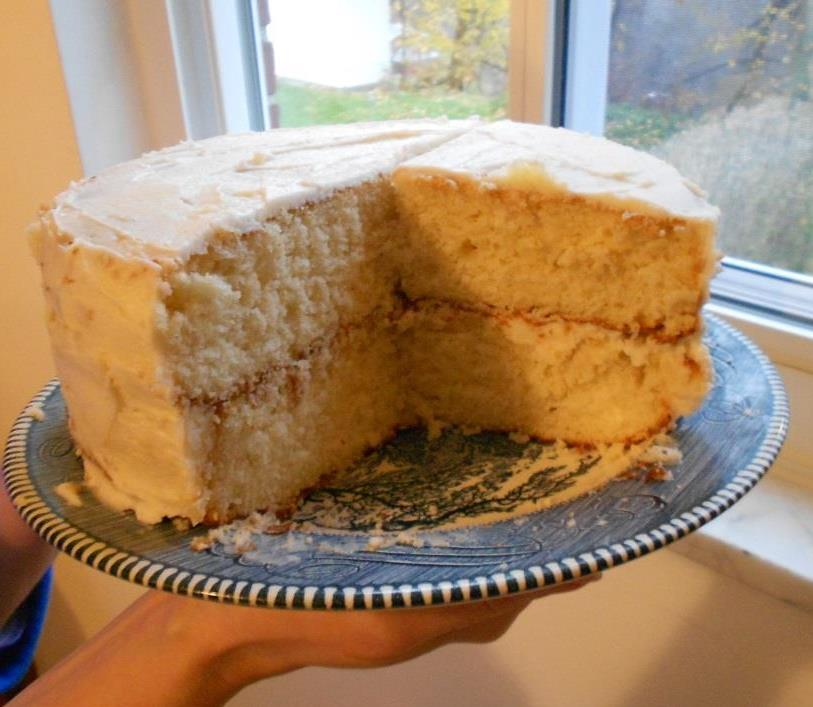 My Delectable Yellow Layer Cake Cut