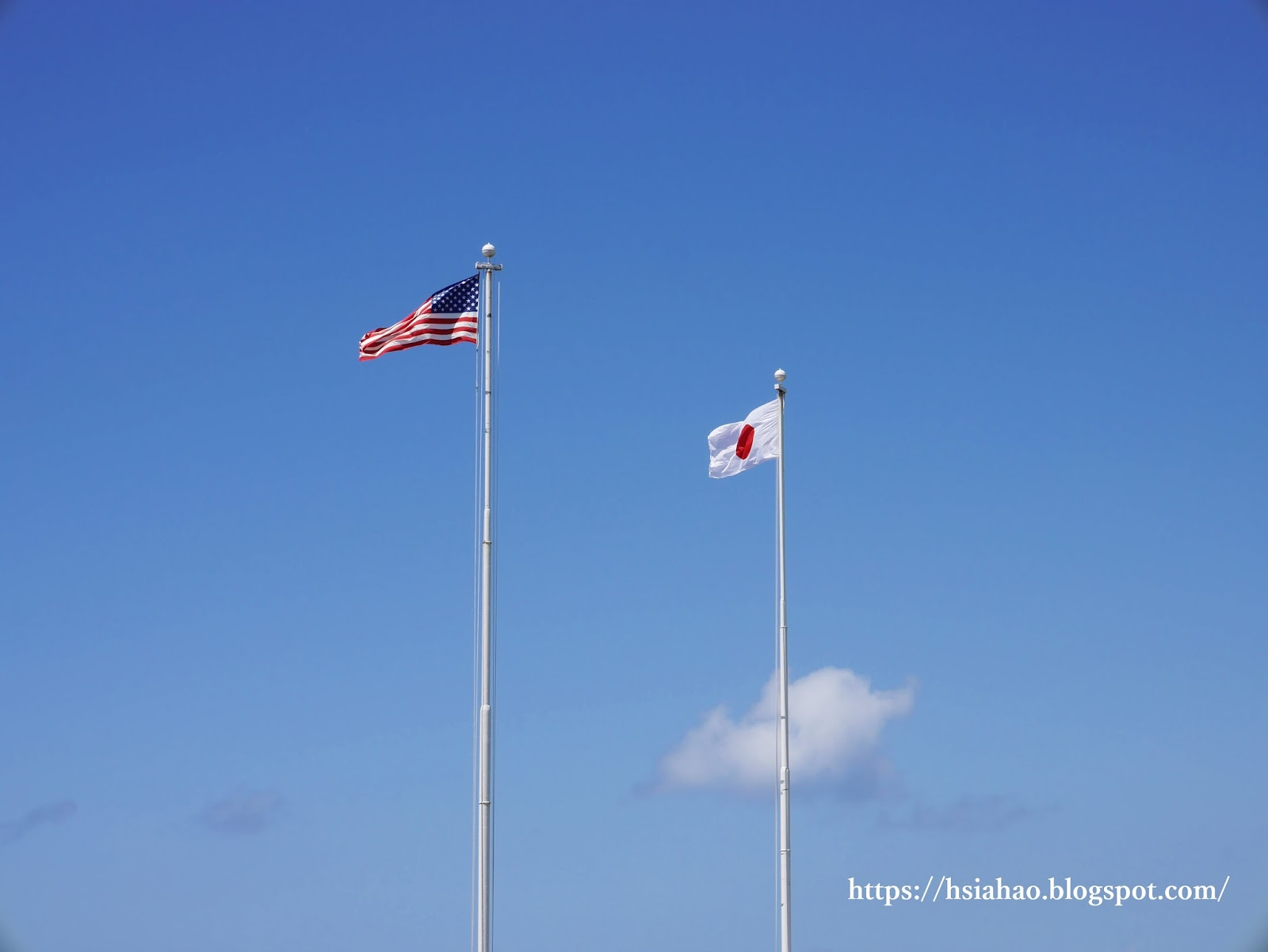 沖繩-美國-日本-國旗-Okinawa-Japan-America-Flag
