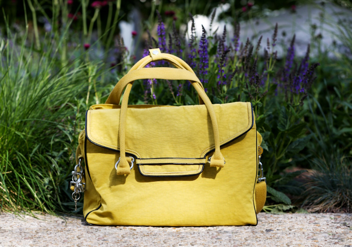 yellow kipling city bag