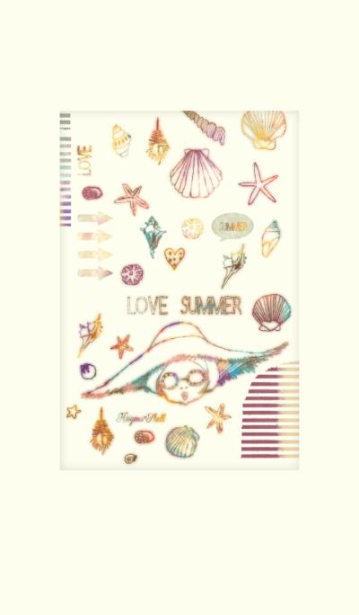 Love Summer! Love ocean! (Rainbow)