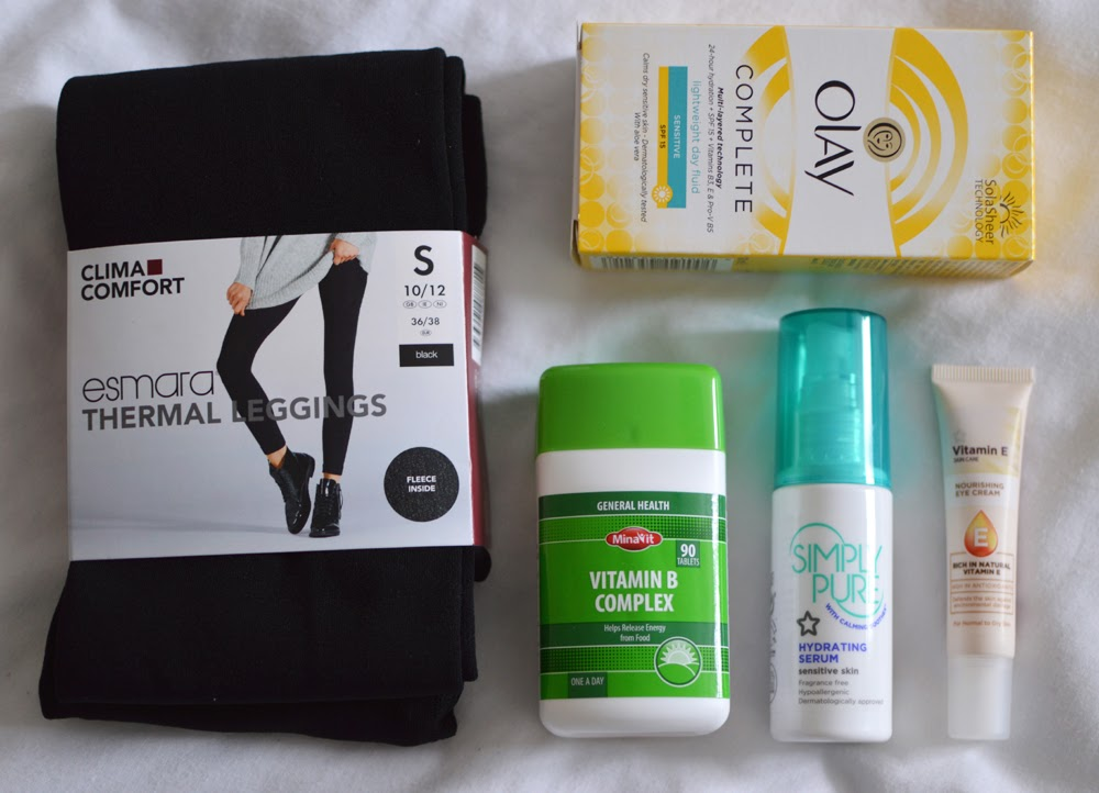 Esmara Leggings & Superdrug Skincare