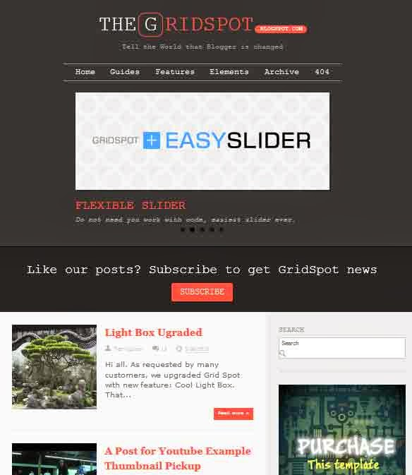 The Gridspot - Premium Blogger Template Responsive FREE