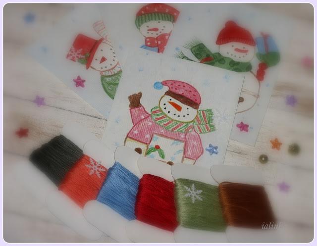 Snowbells mill hill cross stitch