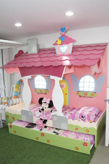 Dormitorio minnie bedrooms for Habitaciones para ninas pintadas