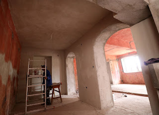 Lots of plastering completed today