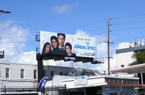 Alex Inc TV series billboard