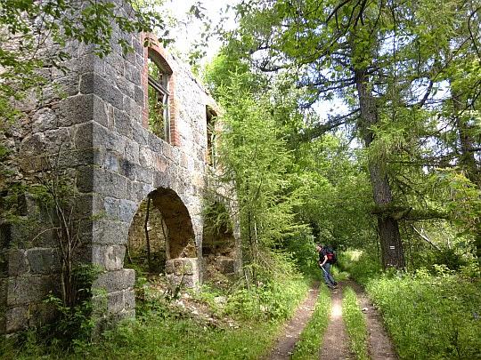 Ruiny prewentorium na Grabowcu.