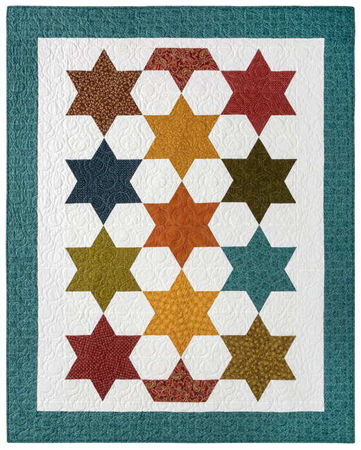 Rhombus Star Quilt Free Pattern designed by Jenny of Missouri Quilt Co