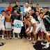صورة الفريق في مستودع الملابس وهو يحتفل بالمباراة رقم 400 لكريم بنزيمة