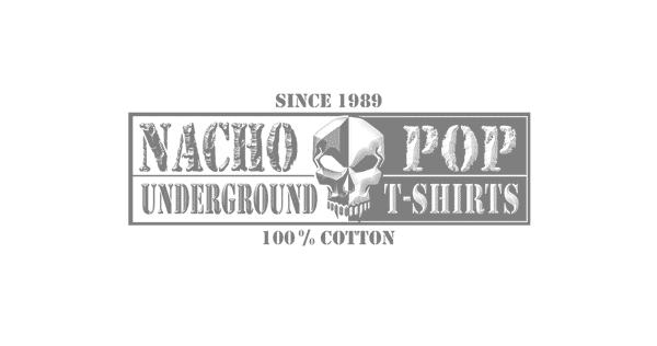 logo de la marca de polos metaleros nacho pop