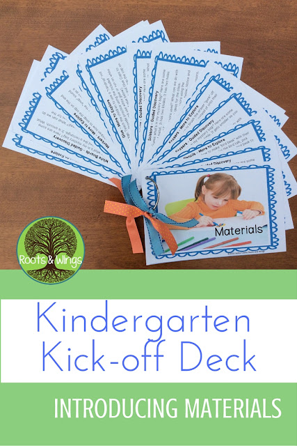 Getting Started in Kindergarten - Back to School Deck - Introducing Materials