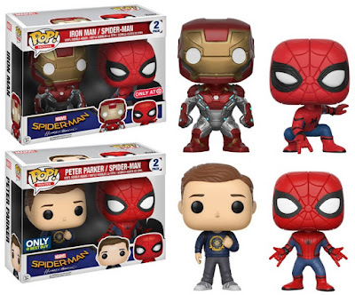 Retailer Exclusive Spider-Man Homecoming Pop! & Dorbz Marvel Figures by Funko - Iron Man & Spider-Man