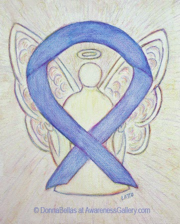 Periwinkle Ribbon Awareness Angel Image Picture
