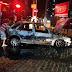 Carro pegou fogo nesta noite na av. Deodoro