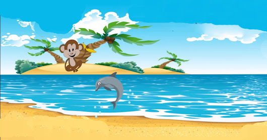 Monkey and the Dolphin - Short Story for Kids
