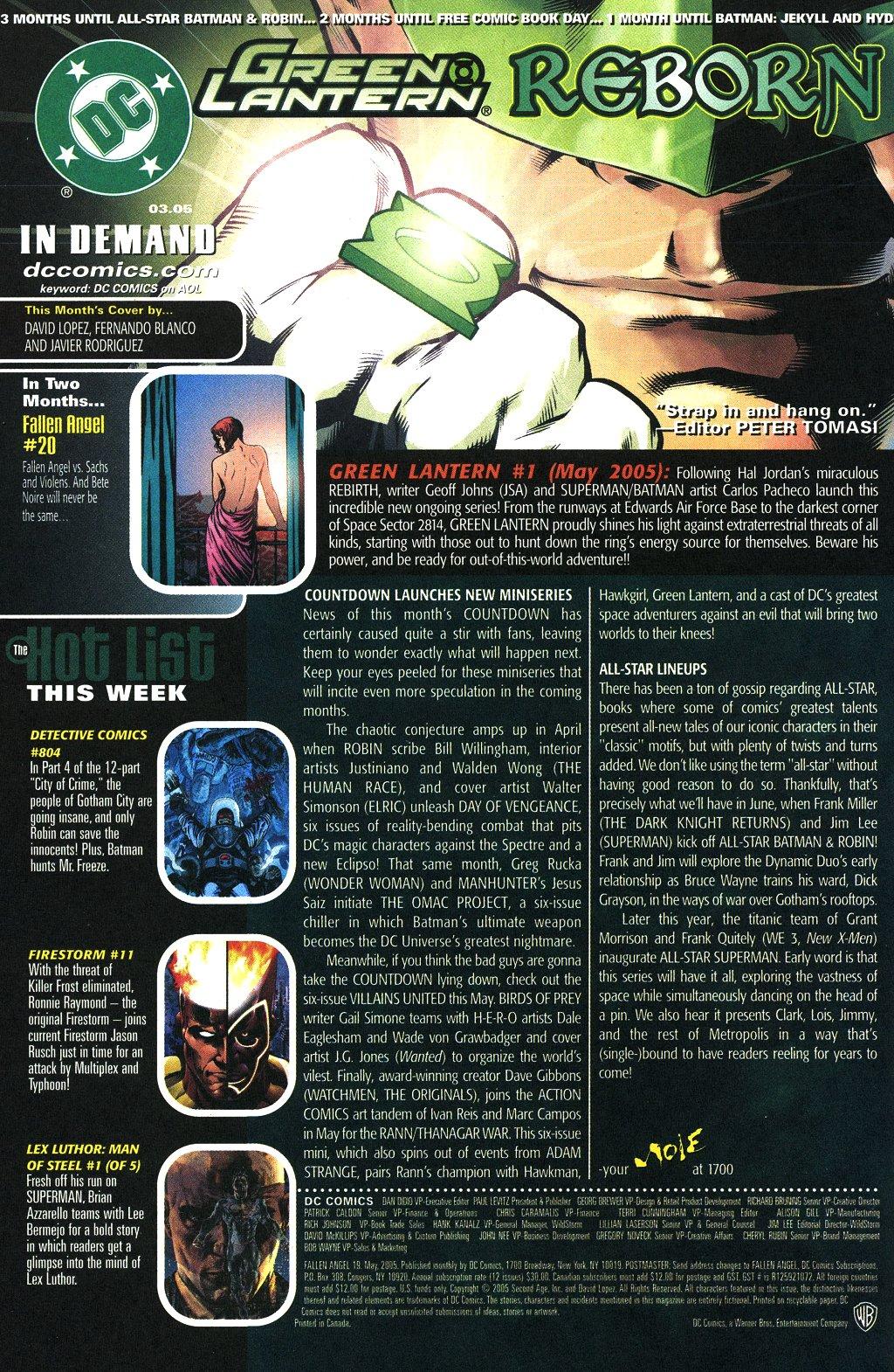 Read online Fallen Angel (2003) comic -  Issue #19 - 24