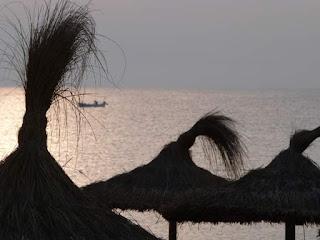 Blick auf das Meer am Playa de Muro Mallorca