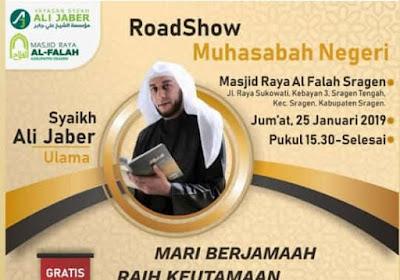 Jadwal Pengajian Syekh Ali Jaber di Masjid Al-Falah Sragen Jawa Tengah