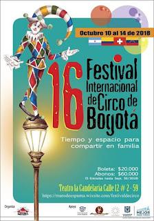 POSTER 16 Festival Internacional de Circo Bogotá 2018