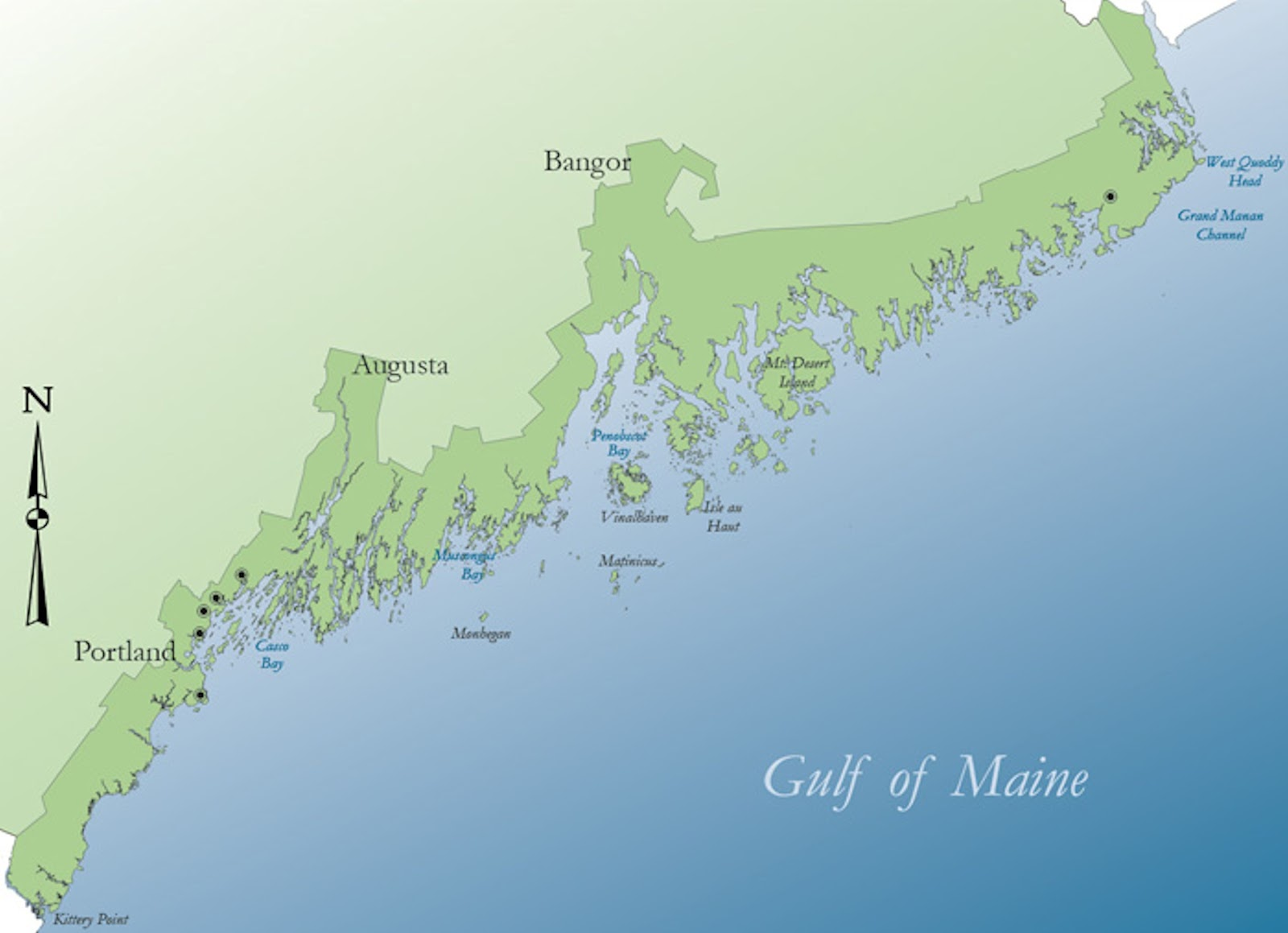 Outdoor Enthusiast: Places to Play in Northern New England on north maine woods map, maine coast map, cliff lake maine map,