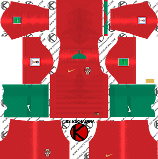 Portugal 2018 World Cup Kit -  Dream League Soccer Kits