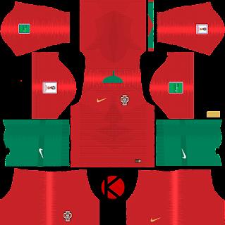 Portugal 2018 World Cup Kit - Dream League Soccer Kits