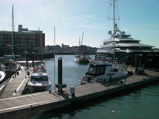 ncp millionaire yacht moored in portsmouth harbour spice island