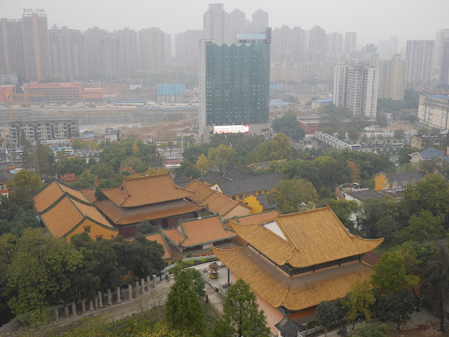 view from the Hongshan Pagoda in Wuhan