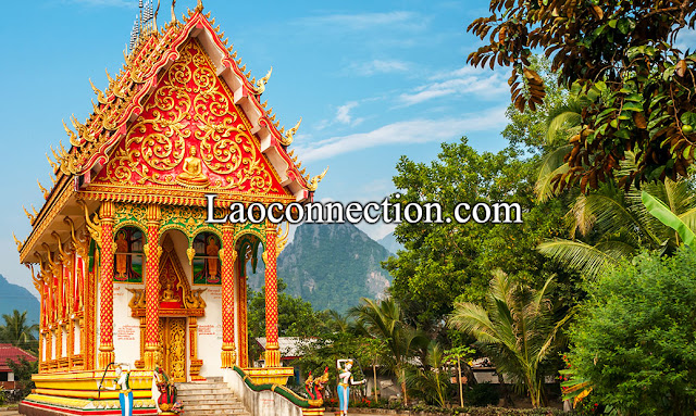 Beautiful Temple in Vangvieng