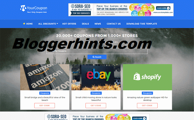 Your Coupon Blogger Responsive Theme