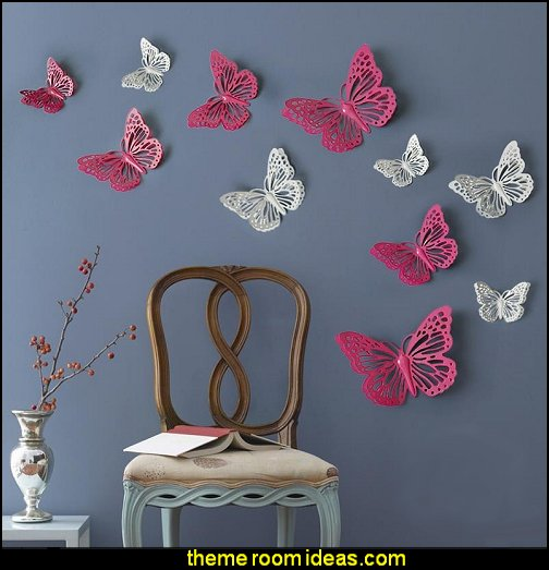 Butterflies  baby girl garden nursery theme decorating ideas - flower garden theme baby bedrooms - butterfly bedroom decor - butterfly bedroom theme - butterfly wall murals - tree wall murals - baby girl garden themed nursery