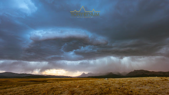 Dramatic and Rare Storm Cell over Glacier National Park