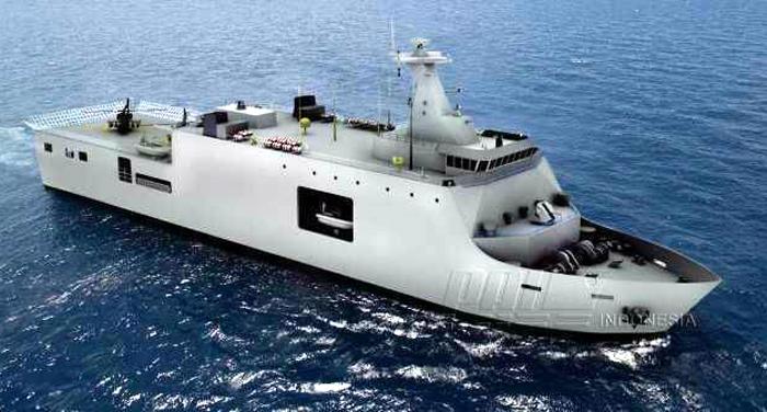 Kapal Perang LPD TNI AL buatan PT PAL Indoensia