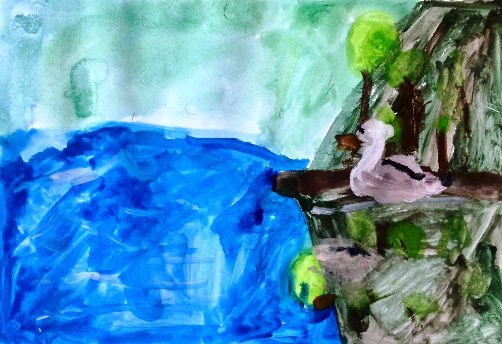 """""""Trece lebăda pe ape...""""- lucrare de inspirație eminesciană"""