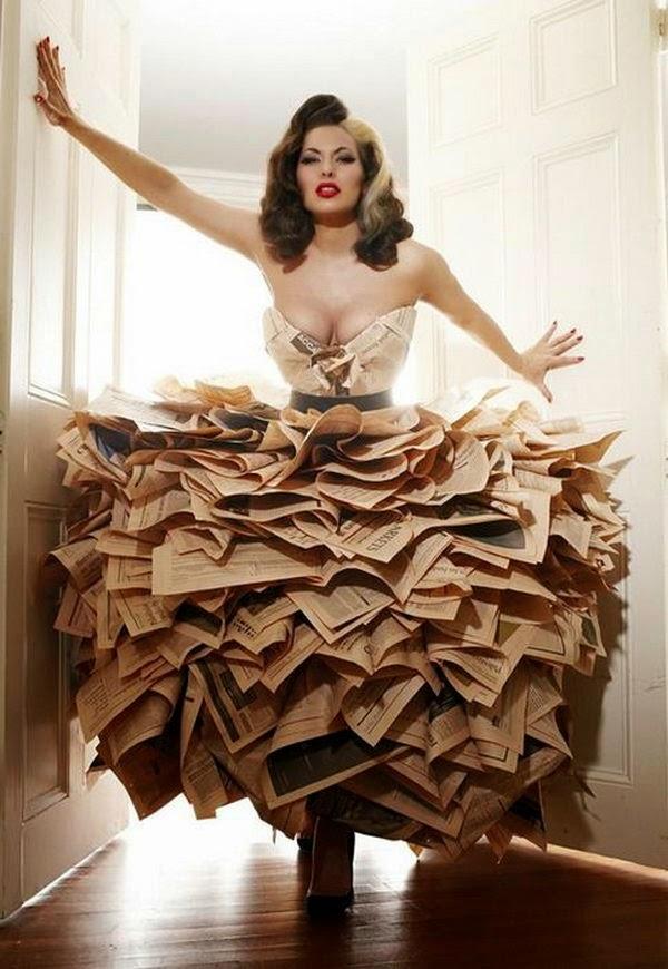 Creative Ideas Newspaper Beautiful Dress