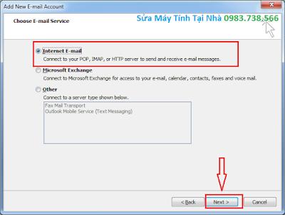Cài Outlook cho Gmail - H06