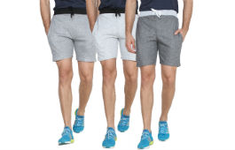 Swaggy Sports Shorts For Men Pack of 3 For Rs 399 (Mrp 1099) at Shopclues deal by rainingdeal.in