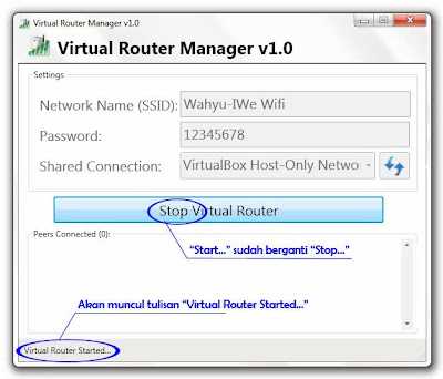 Virtual Router Manager Jadikan laptop sebagai hotspot