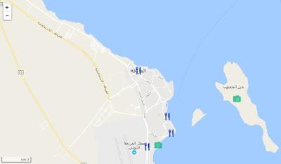خريطة مدينة الغردقة