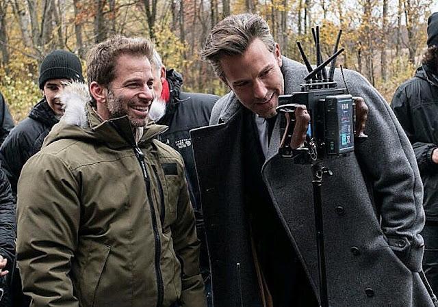 Ben Affleck junto a a Zack Snyder en el rodaje de Batman v Superman