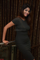 Priya Vadlamani super cute in tight brown dress at Stone Media Films production No 1 movie announcement 048.jpg
