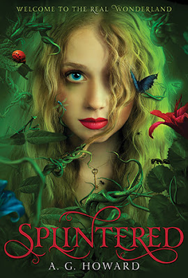Splintered by A.G. Howard a retelling or more so fairytale twist of Alice in Wonderland.  This book is the first in a YA series, and it gets 3 out of 5 stars in my book review.  Okay read, not great.  Mostly clean, tho there is sotme adult ideas.  Teen, High School, Young Adult, Fairytales, fun light read, beach read, book series. 8th grade and up. Alohamora Open a Book http://www.alohamoraopenabook.blogspot.com/
